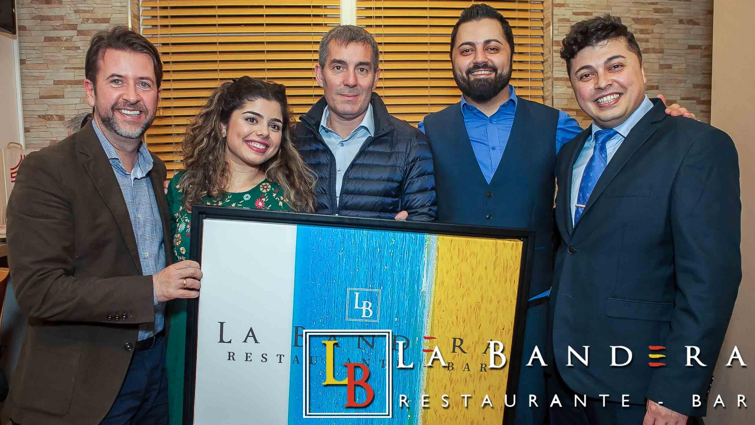 Fernando Clavijo and Carlos Alonso at La Bandera Restaurant