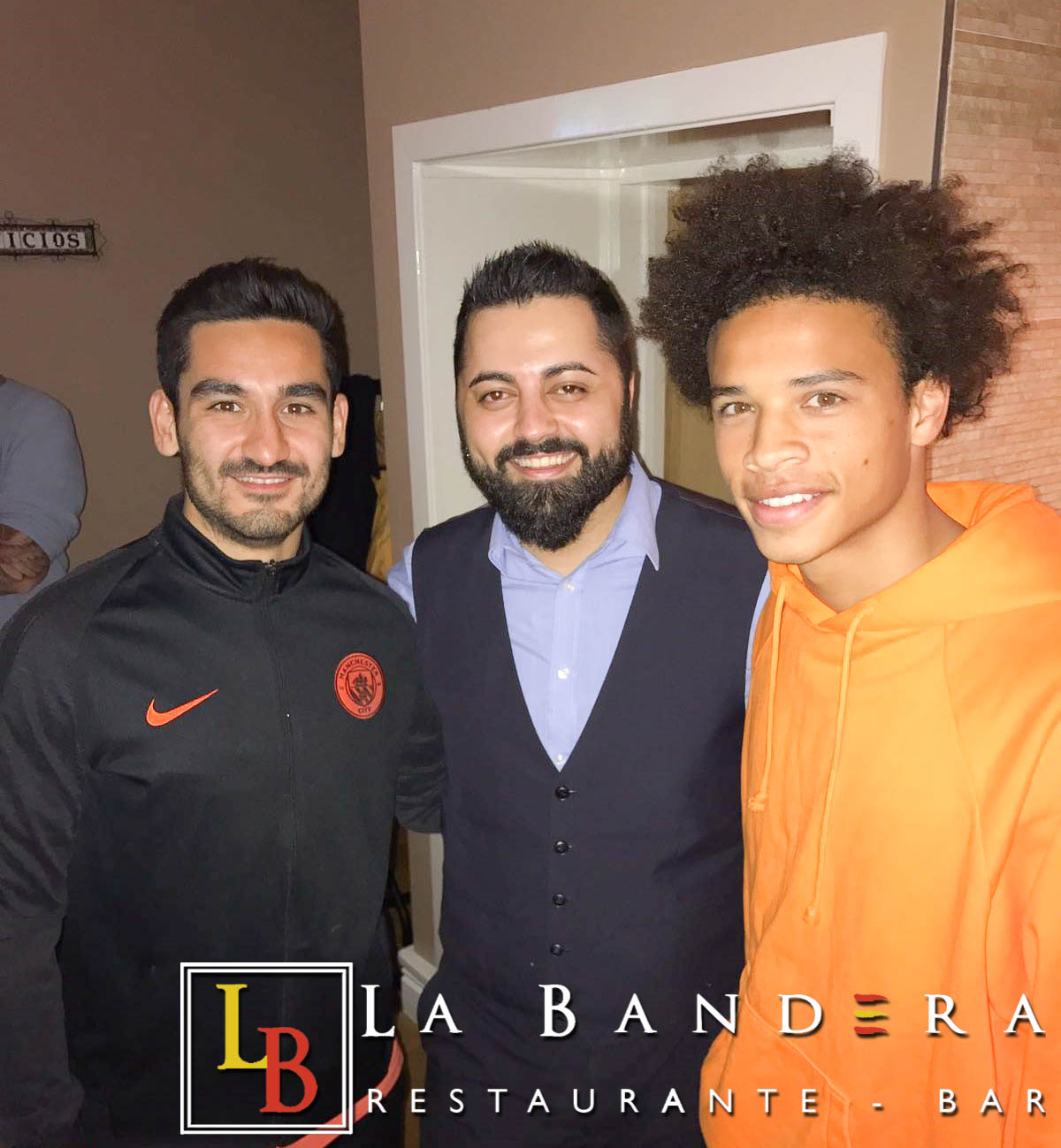 Ilkay Gundogan and Leroy Sane at La Bandera